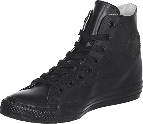 Converse Unisex Chuck Taylor All Star Leather High Top Shoe Black 9.5 Men US/11.5 Women US