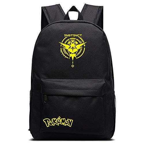 Pokemon Rucksack Pokemon Go Team Instinct/Valor/Mystic Rucksack Schultaschen für Teenager Mädchen Jungen Laptop Rucksack Reisetaschen Kinder Büchertasche