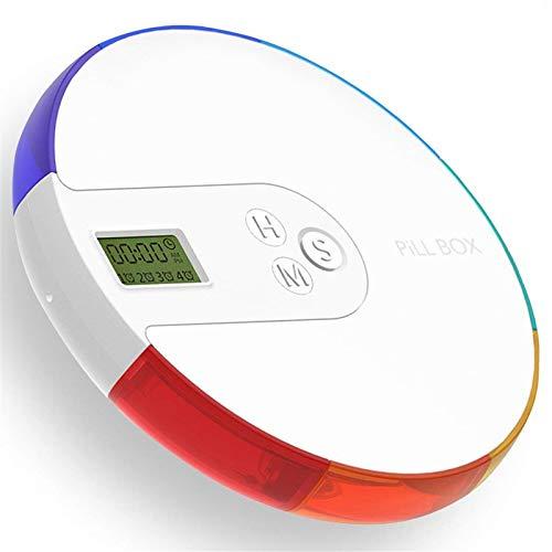 BrilliantDay Portapillole Elettronico Scatola Della Pillola con 7 Scomparti Dispenser automatico pillola con Orario e Sveglia Portatile per Viaggio Campeggio Lavoro#1