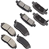 OCPTY Ceramic Brakes Pads, Quick Stop Front Rear Brake Pad fit for 03-05 for Infiniti G35, 03-05 for Nissan 350Z, 07-13 for Nissan Altima, 11-17 for Nissan Juke, 07-12 for Nissan Sentra