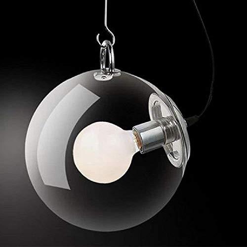 Deckenleuchte,Bermnn Einfache Art Personality Schlafzimmer Foyer Beleuchtung Nordic einfache Blase Dusche Metalldeckenleuchte E27 moderne kreative Glasseifenblase Runde Deckenleuchte Pendelleuchte Sti