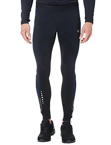 Ultrasport Compression Effect and Quick-Dry-Function Thermodynamic Pantalones Largos termodinámicos, Hombre, Negro/Victoria Azul, S