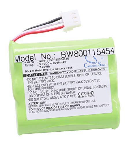 vhbw NiMH Akku 2000mAh (3.6V) para teléfonos inalámbricos AT&T WF720