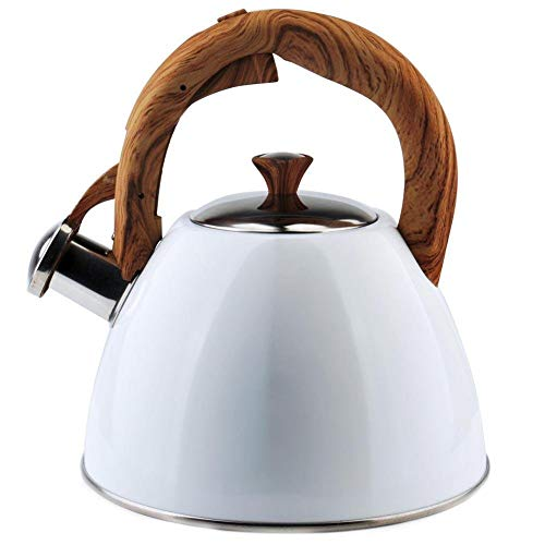 ORION Wasserkessel Wasserkocher Teekessel Flötenkessel MODERN automatisch WEISS 2L Gas Induktion