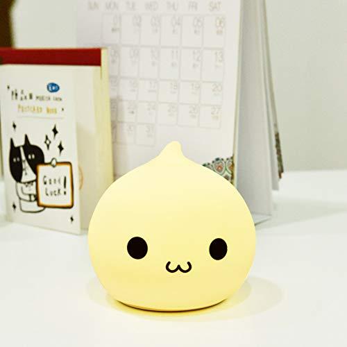 XHSHLID Mooie 7 Kleur Water Drop Nachtlampje Silicone Zachte Children's gift LED Touch Licht Cartoon lamp