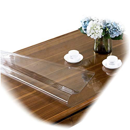 AWSAD El Mantel de la Boda de la Estera de Tabla del PVC, Transparente se Puede Personalizar el Mantel del rectángulo del tamaño, 17 tamaños (Color : 1.5mm, Size : 140x200cm)