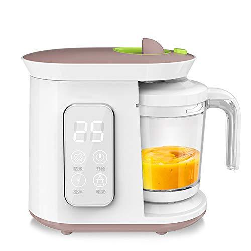 HBIAO Baby-Küchenmaschine, All-in-One-Babynahrungsmaschine Mixer Dampfgarer Chop Grind Püree Quick Easy Clean BPA-frei
