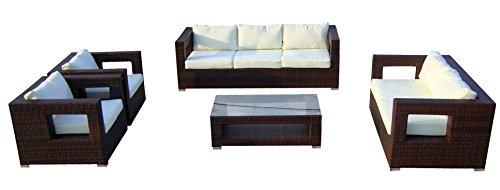 Baidani Rattan Lounge-Garnitur Seaside, 19-teilig, braun meliert