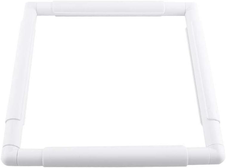 20.3 /× 20.3cm Aro de bordado aro de punto de cruz cuadrado de pl/ástico Aro de coser Marco de mano Clip de artesan/ía Aro de marco para bordado Herramienta de punto de aguja de acolchado de punto
