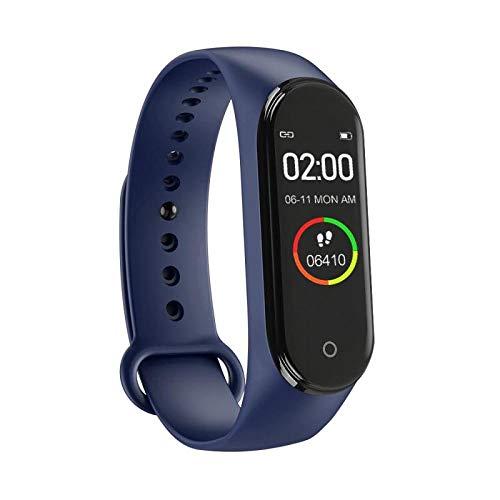 NUNGBE Intelligente Uhr, Touchscreen-Sportschrittzähler, Fitnesslauf, Lauftracker, Herzfrequenz, Blutdruck-Schrittzähler, intelligentes Armband, Fitness-Blau