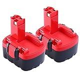 [2-Pack] Boetpcr pour Bosch 14.4V 3.0Ah Ni-MH Remplacement batterie BAT038 BAT040 BAT041 BAT140 BAT159 2607335685 2607335533
