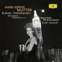 Brahms: Violin Concerto In D Major, Op. 77 / Schumann: Fantasy For Violin And Orchestra In C Major, Op. 131 by Anne-Sophie Mutter [Violin] (1997-10-14)