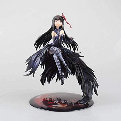 Puella Magi Madoka Magica Demon Wing Akemi Homura Edition Negro Long Rify Girl Magic Animations Modelo Carácter Decoración Estatua Anime Carácter Colección 30 cm
