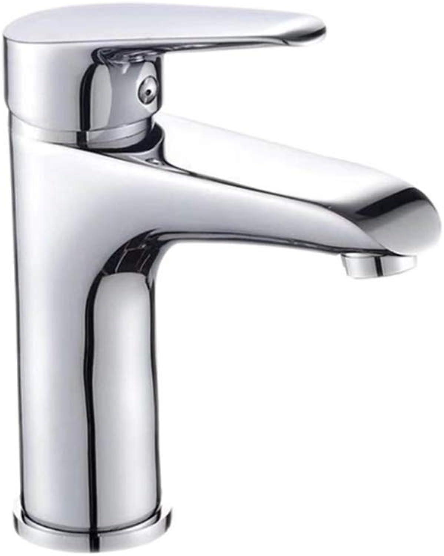 Faucet Mone Spout Basincopper Cold and Hot Single-Hole Basin Faucet Bathroom Counter Basin Faucet