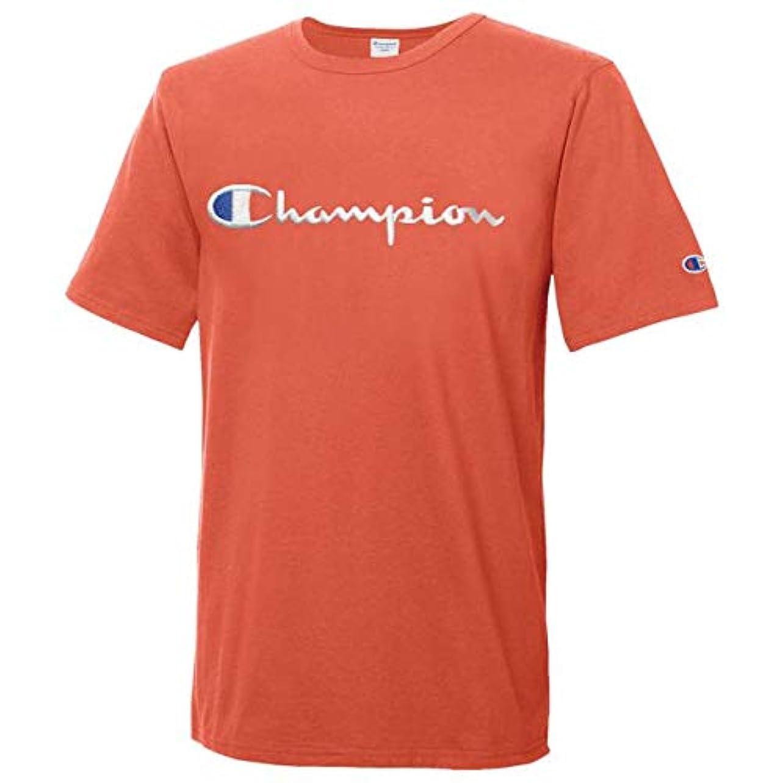 気絶させる懐在庫(チャンピオン)Champion Heritage Script Embroidered S/S T-Shirt メンズ Tシャツ [並行輸入品]