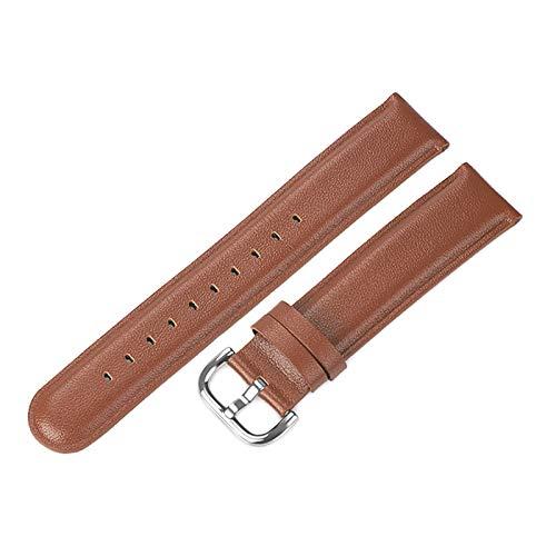 Elegante de cuero correa de reloj de 20mm de ancho de banda de la correa, marrón, Engranaje S2 a gran