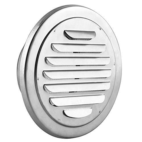 Jadpes Wall Round Air Vent, 100 mm kaliber roestvrij staal winddicht regenveilige ventilatiedeksel vlakke kop-luchtuitlaatrooster kanaalbeluchtingsdeksel-uitlaatrooster
