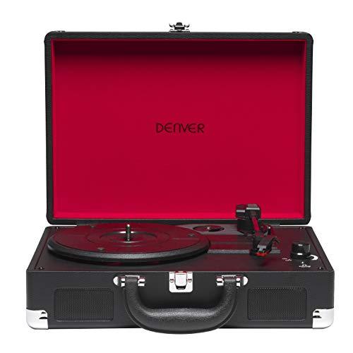 Tocadiscos Denver VPL-118BLACK de Tres velocidades 33 1/3,45,78 RPM. Altavoces 2...