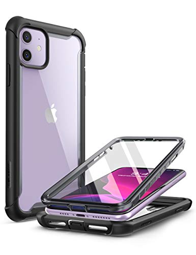 i-Blason Cover iPhone 11 360 Gradi, Custodia iPhone 11 con Protezione per Display Integrata [Serie Ares] Rugged Case per iPhone 11 2019, Nero