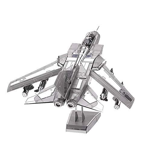 Metal 3D Puzzle Tornado Fighter, DIY Monta Kits De Edificio Modelo Laser Cut Jigsaw Toy, Kit Maquetas para Construir Adultos/Adolescente, Adecuado para Personas Mayores De 14 Años, 135 X 22 X 228 m