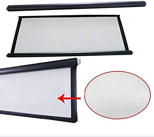 HGSDKECFS Portable Projection Screen Fabric Projection Screen 100 Inch 16:9 Ratio for Home Cinema HD Manual Projector Screens 2.2X1.24 Meter