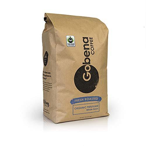 5lb Fair Trade Organic Peruvian Whole Bean Fresh Roasted Specialty Coffee Medium Roast, 100% Arabica Coffee, 80 ounces, 5 pounds, Bulk Coffee