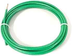 JumpingLight 25 FEET THHN THWN-2 8 AWG Gauge Green Copper Building Wire VW-1 Cables Electronic Stranded Wire Cable Electrics DIY