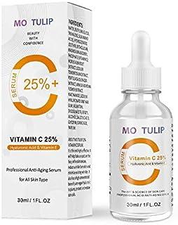 25% Vitamin C Serum for Skin, Facial Serum With Hyaluronic Acid and Vitamin E, Dark spot Treatment, Anti-Aging, Anti-Winkl...