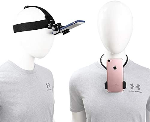 Pellking POV Vlog Smartphone Head Strap Mount Selfie Neck Holder Mount Kit Compatible with iPhone product image