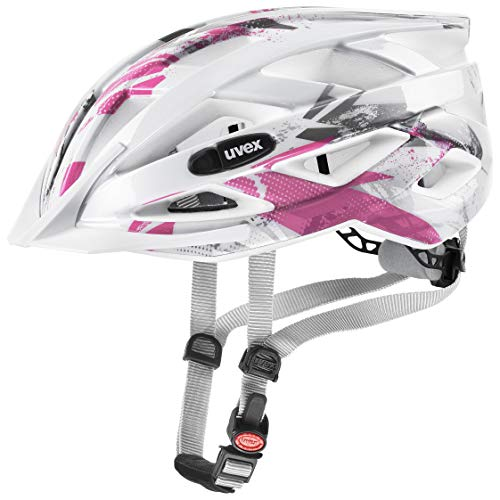 uvex Unisex Jugend, air wing Fahrradhelm, white pink, 52-57 cm