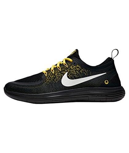 Nike Free RN Distance 2, Chaussures de Running Homme, Schwarz (Schwarz/Gelb Schwarz/Gelb), 44.5 EU