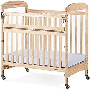 Foundations Next Gen Serenity SafeReach Wood Compact Crib - Clearview, Natural Finish