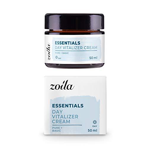 Feuchtigkeitscreme Frauen Gesicht | 50ml zoila Day Vitalizer Cream | Vegane Tagescreme | Kombinierbar mit zoila Vitamin C & Hyaloronsäure Serum