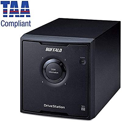 BUFFALO DriveStation Quad High Performance RAID Array with Optimized Hard Drives (HD-QH12TU3R5) from BUFFALO