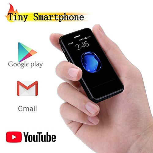 JJA BROS Ultra Denken Melrose S9X 4G LTE Quad Core 1 GB RAM + 8 GB ROM 2,5 Zoll Android 6.0 Tasche Kreditkarte Kunststoff Super Mini Smartphone Handy (schwarz)
