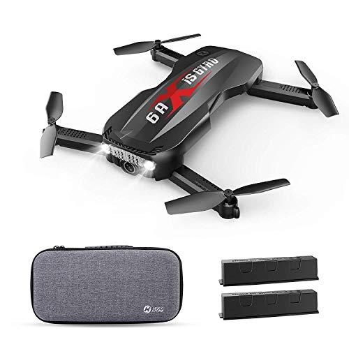 Holy Stone FPV mini drone HS160pro opvouwbaar met 1080P camera HD live transmissie, 2 batterijen Lange vliegtijd RC quadcopter afstandsbediening met hoogtecontrole, headless-modus, mobiele telefoonbediening voor beginners, kinderen