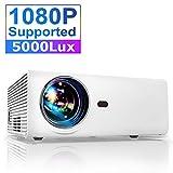 Vidéoprojecteur, YABER Mini Projecteur Portable Native 1280*720P Soutien 1080P Full HD 5000 Lumens avec Haut-parleurs Stéréo HiFi Multimédia Home Cinéma Compatible Chromecast /USB /VGA /HDMI /AV