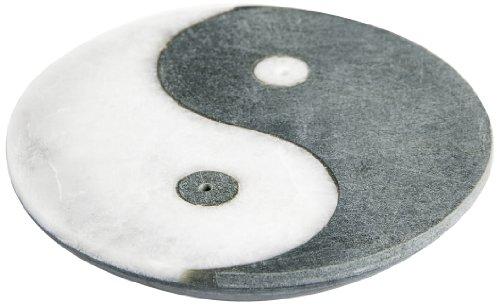 Berk ST-076 Räucher-Zubehör - Ying-Yang - Räucherstäbchenhalter aus Marmor