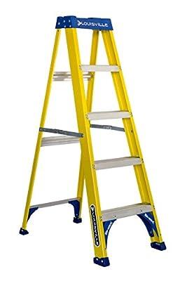 Louisville Ladder FS2005 Fiberglass Step Ladder, 5-Feet/250lb, Yellow