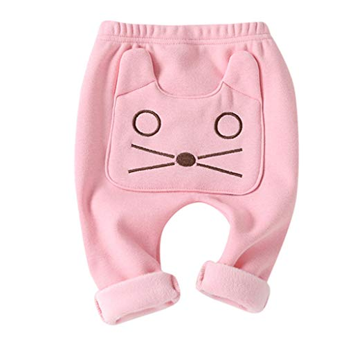 Luoluoluo Leggings baby jongens meisjes 1-3 jaar warme winterbroek met dierenprint leggings elastisch panty broek skinny kousen herfst lente jeans capribroek meisjes