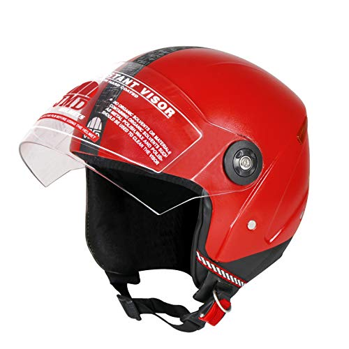 JMD HELMETS WONDER NEW OPEN FACE RED (M/L Size) HELMET