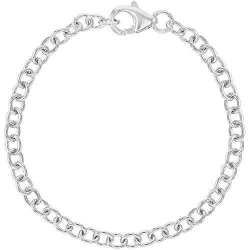 925 Sterling Silver Classic Girls Charm Bracelet Kids Children Link Chain 6