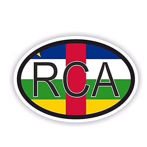 YLZH Etiqueta engomada del coche del color 14.5CM* 9.7CM de la República Centroafricana etiqueta engomada del coche del código del país creativo reflexivo PVCSS..
