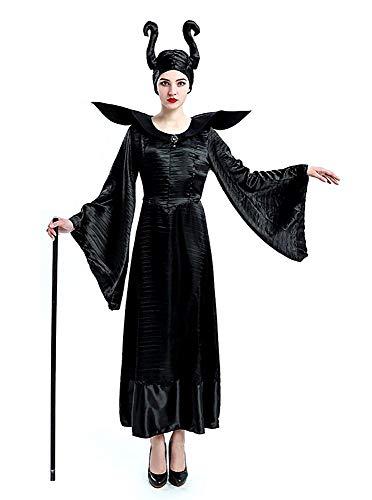 Lovelegis Disfraz de Bruja Malvada - maléfica - maléfica - Bella Durmiente - Mujer - niña - Disfraz - Carnaval - Halloween - Accesorios - Talla XL - Idea de Regalo para Navidad y cumpleaños