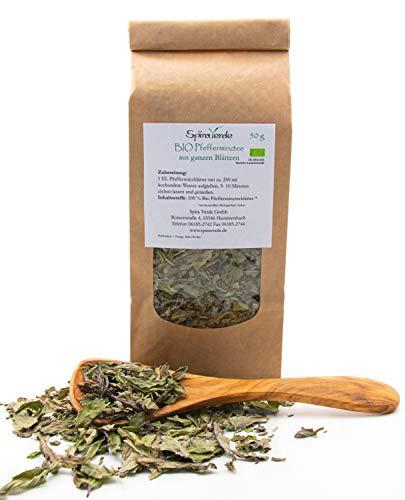 SpiraVerde BIO Pfefferminz-Tee aus ganzen Blättern, 50g