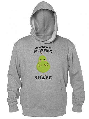 Finest Prints My Body is In Pearfect Shape Cool Pear Kapuzenpulli für Herren Extra Large