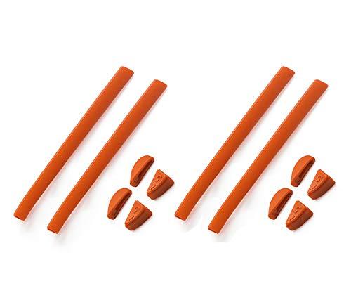Juego de 2 pares de almohadillas de repuesto para la nariz y los auriculares de goma para Oakley Romeo 2 Sunglass