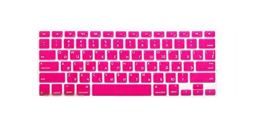 US EU Euro RU Russian Letter Keyboard Cover for MacBook Air Pro Retina 13 15 Laptop Russia Protector Skin for iMac 13.3 15.4-USrose-