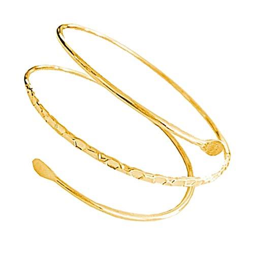 non-brand Oberarm Manschette Armband, Damen Armbänder, Armspamge, Armreif Punk Geschenk für Familien und Freunde - Golden