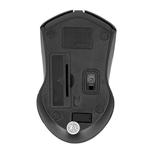 Gedourain Ratón inalámbrico, Estable y confiable Diseño de Ahorro de energía Gran compatibilidad Ratón de Escritorio USB para computadora portátil
